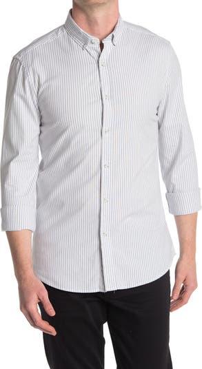 Оксфордская рубашка в полоску TOPMAN