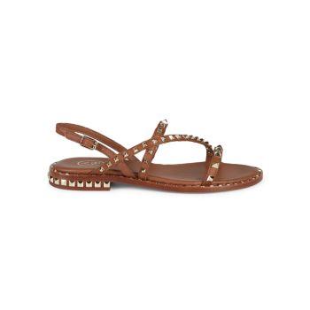 Кожаные сандалии Peace с ремешком на пятке и заклепками ASH