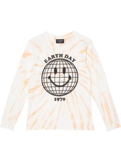 Рубашка с длинным рукавом Earth Day Spiral с принтом тай-дай (Малыши / Маленькие дети / Старшие дети) Tiny Whales