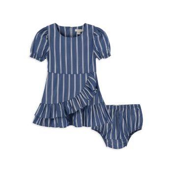 Baby Girl's 2-Piece Ruffle Dress & Bloomers Set Habitual