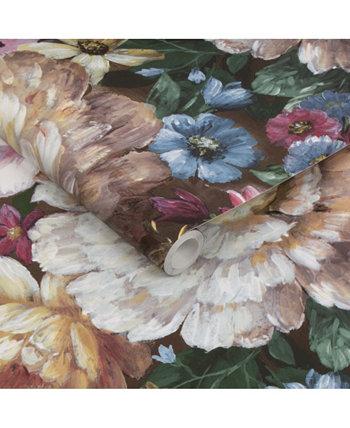 "Обои Moody Floral Peel and Stick, 216 ""x 20,5"" Transform"