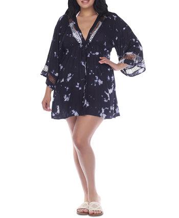 Платье-накидка больших размеров с отделкой крючком Raviya