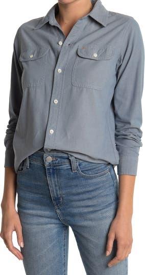 Стандартная классическая рубашка из шамбре с двойным карманом ALEX MILL