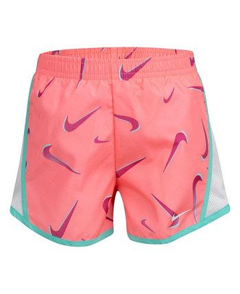 Темп-шорты Little Girls с логотипом и логотипом Nike