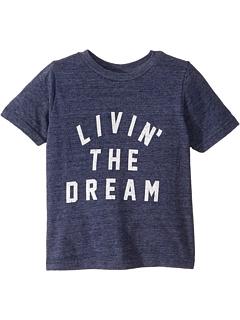 Винтажная футболка с короткими рукавами Tri-Blend Livin 'The Dream (для малышей) The Original Retro Brand Kids