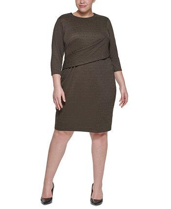 Платье-футляр из трикотажа большого размера с понте Calvin Klein