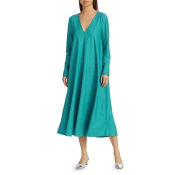 Платье прямого кроя с блестками Lauren STINE GOYA