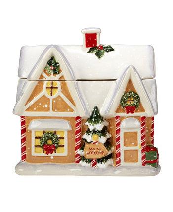 Santa's Workshop 3D Cookie Jar Certified International