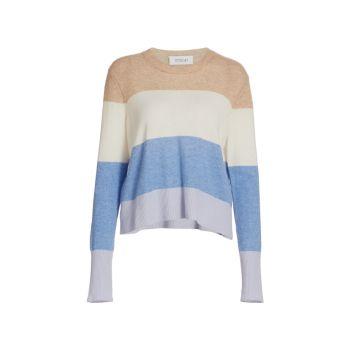 Кашемировый свитер в полоску с круглым вырезом Clea DEREK LAM 10 CROSBY
