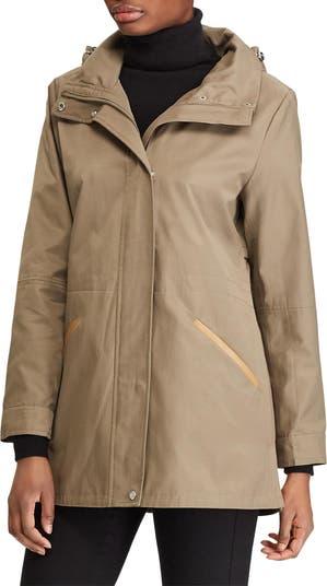 Hooded Zip Front Anorak Jacket LAUREN Ralph Lauren