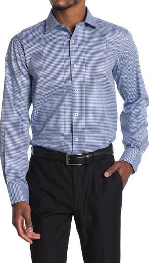 Рубашка с миниатюрным принтом в сеточку BUGATCHI