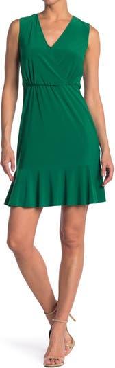 Surplice Neck Sleeveless Dress Eliza J