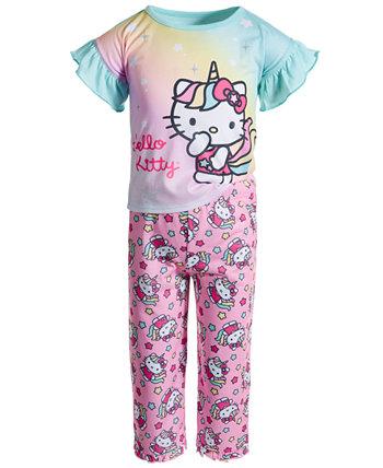 Пижамный комплект из джерси для маленьких девочек Hello Kitty