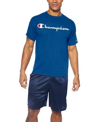 Мужская футболка с большим логотипом Script-Logo Champion