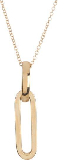 Ожерелье с подвеской в виде звеньев из 14-каратного желтого золота Bony Levy