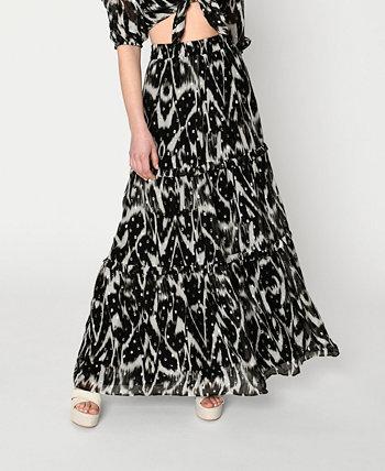 Women's Ikat Lurex Maxi Skirt Nicole Miller