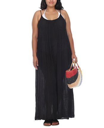 Платье макси без рукавов плюс размер Raviya