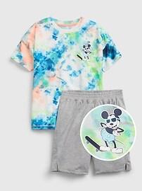 GapKids | Пижамный комплект Disney Mickey Mouse Tie-Dye из 100% переработанных материалов Gap