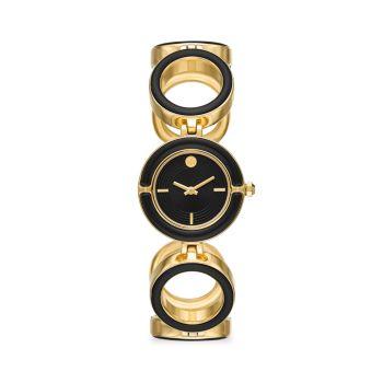 Часы Sawyer с двухцветным золотым оттенком и черной эмалью Tory Burch