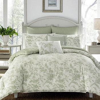Пастельное зеленое одеяло King Natalie Laura Ashley