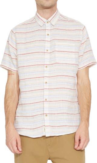 Рубашка с коротким рукавом из смесового льна Civil Society