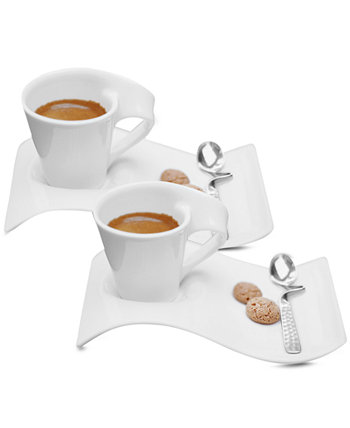 Набор из 2 чашек и блюдца для эспрессо New Wave Caffe Villeroy & Boch