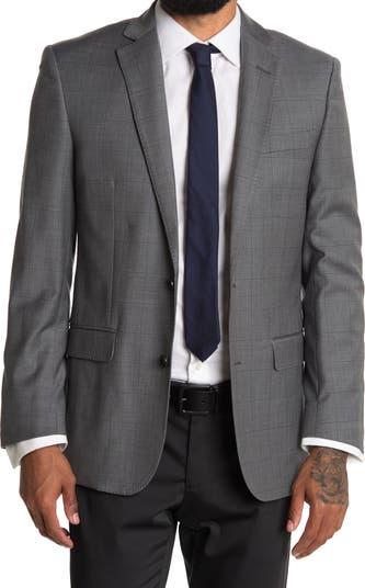 Серый костюм Regent Fit из смесовой шерсти с двумя пуговицами и двумя пуговицами в клетку отделяет жакет Brooks Brothers