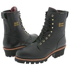 "8"" Black Logger W/P Insulated Steel Toe Chippewa"