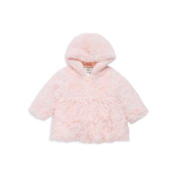 Baby Girl's, Little Girl's & amp; Пальто с капюшоном из искусственного меха для девочек WIDGEON