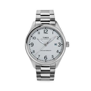 Традиционные автоматические часы Waterbury с браслетом из нержавеющей стали Timex