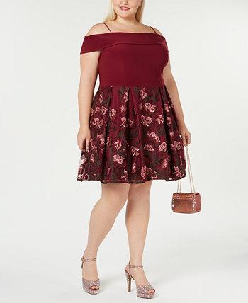 Модное платье больших размеров с открытыми плечами Morgan & Company