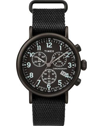Часы Timex Standard Chronograph 41мм с ремешком из ткани Timex