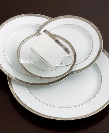 Столовая посуда, Суповая тарелка Athena с платиновым ободом, 9 дюймов Bernardaud
