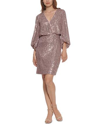 Платье прямого кроя с блестками Eliza J