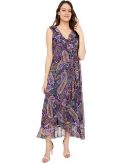 Романтическое макси-платье с оборками и оборками Пейсли London Times