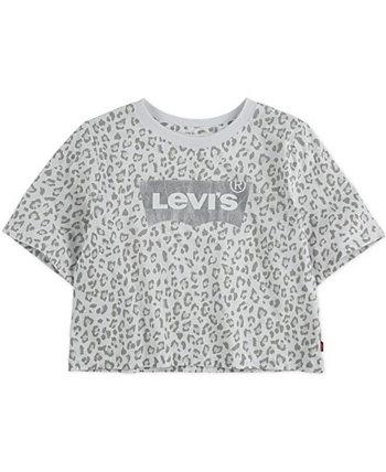 Укороченная футболка с логотипом Little Girls Levi's®