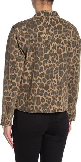 Армейская куртка с леопардовым принтом PAM AND GELA