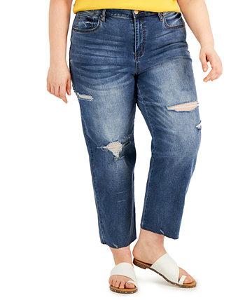 Модные прямые джинсы Lorena больших размеров с прямыми штанинами Dollhouse