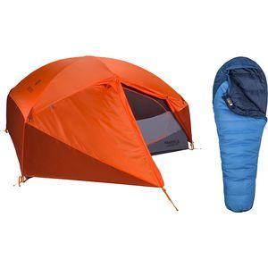 Палатка Limelight 3P + Trestles 15 комплект спальных мешков Marmot