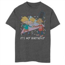 Футболка с рисунком конфетти на день рождения для мальчиков 8-20 Nickelodeon Hey Arnold Nickelodeon
