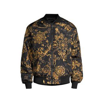 Бомбер на молнии Regalia Baroque Versace Jeans Couture