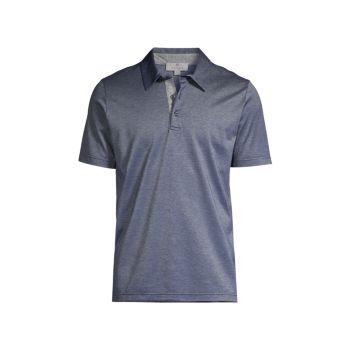 Узкая рубашка-поло из хлопка Canali