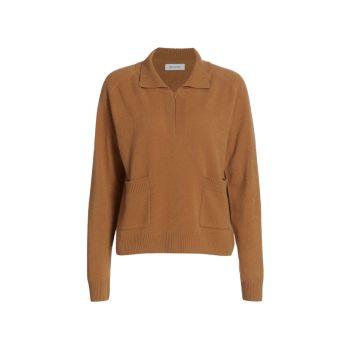 Кашемировый свитер с молнией до четверти NAADAM
