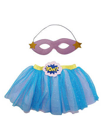 Baby Girl Supergirl Набор для одевания пачки и глазного покрова Popatu