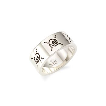 Серебряное кольцо с призраком GUCCI