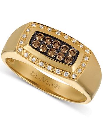 Мужское массивное кольцо с бриллиантом (3/8 карата) из 14-каратного золота Le Vian