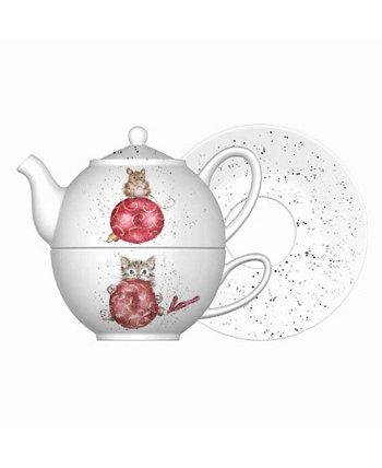 Чай на двоих с блюдцем Wrendale Designs