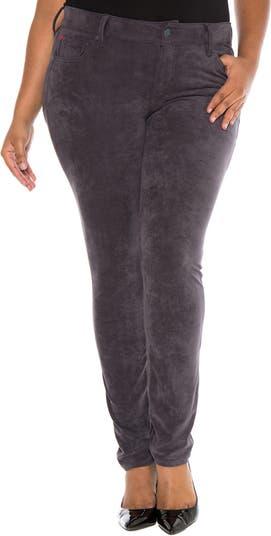 Замшевые зауженные джинсы Slink SLINK JEANS