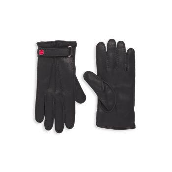 Кожаные перчатки на кашемировой подкладке Kiton