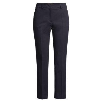 Zanna Crop Slim-Leg Twill Pants Weekend Max Mara